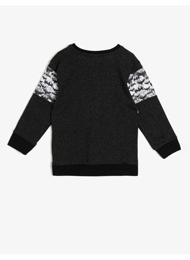 Koton Kids Koton Batman Baskılı Siyah Sweatshirt Antrasit
